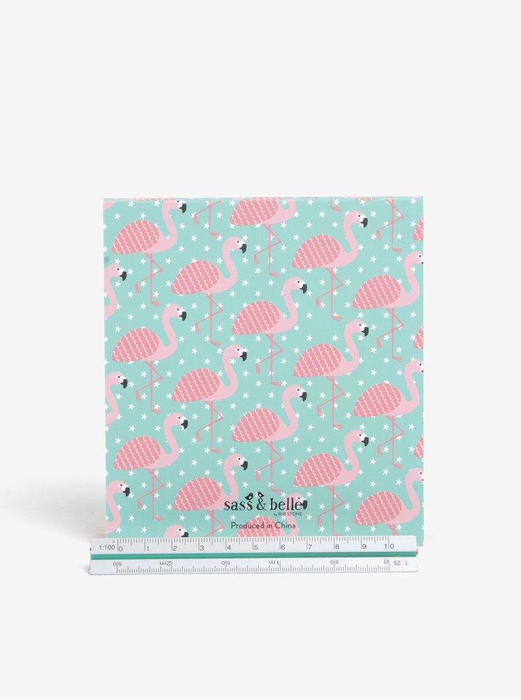 Set de sticky notes cu flamingo - Sass & Belle