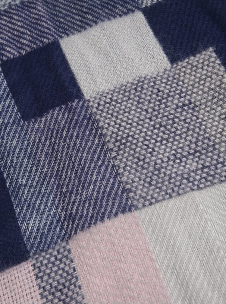 Fular cu franjuri albastru & roz - Dorothy Perkins