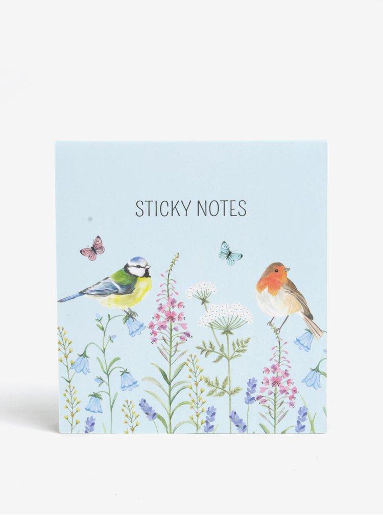 Sada poznámkových lepících bločků s motivem ptáčků Sass & Belle