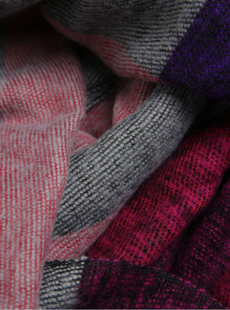 Fular cu franjuri violet & roz - Dorothy Perkins