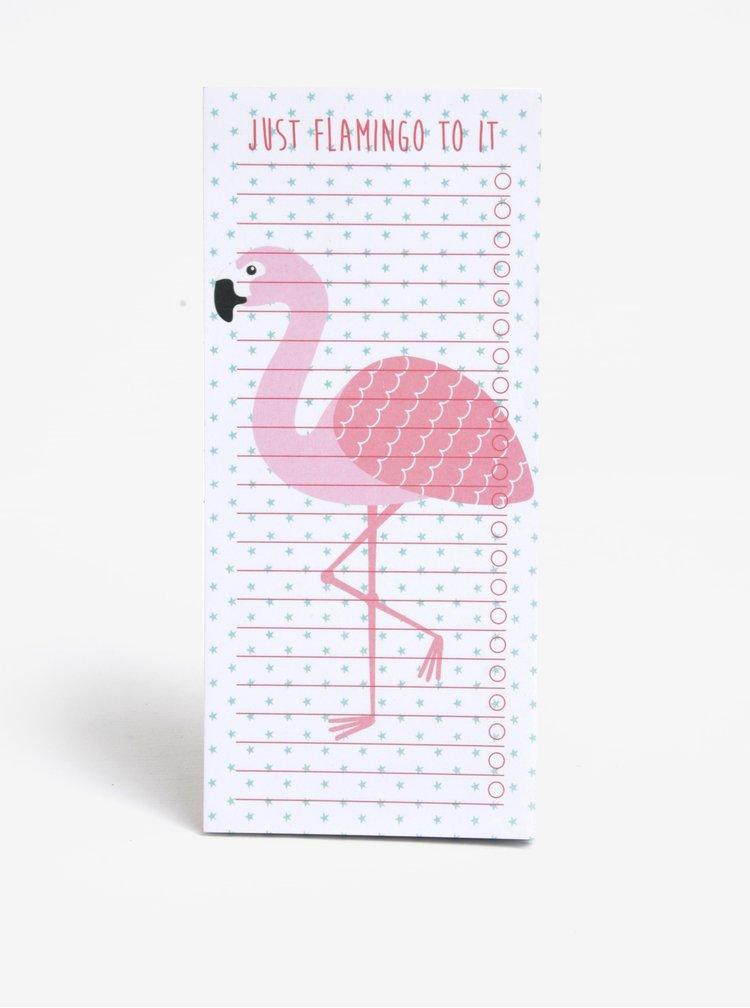 Planning block cu magnet si flamingo - Sass & Belle