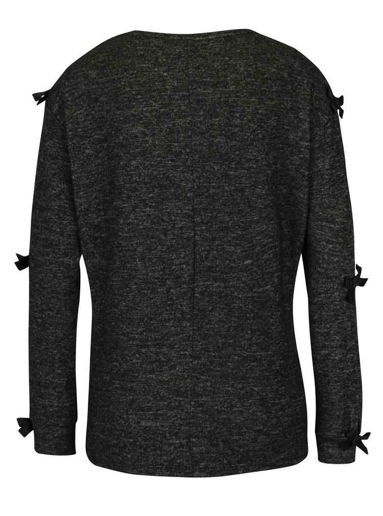 Tmavě šedý žíhaný lehký svetr Dorothy Perkins Petite
