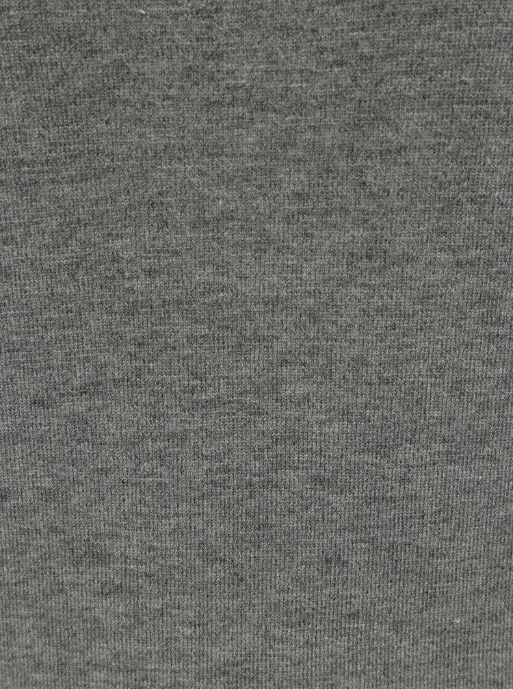 Šedý lehký svetr s netopýřími rukávy Dorothy Perkins