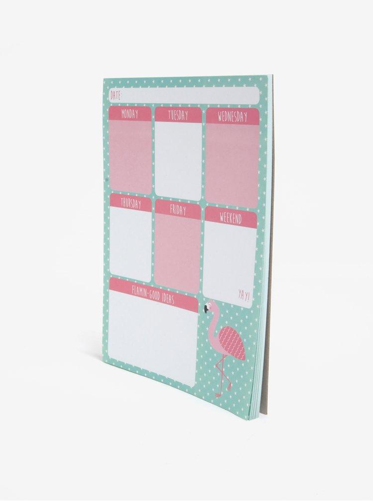 Planning saptamanal cu flamingo -  Sass & Belle