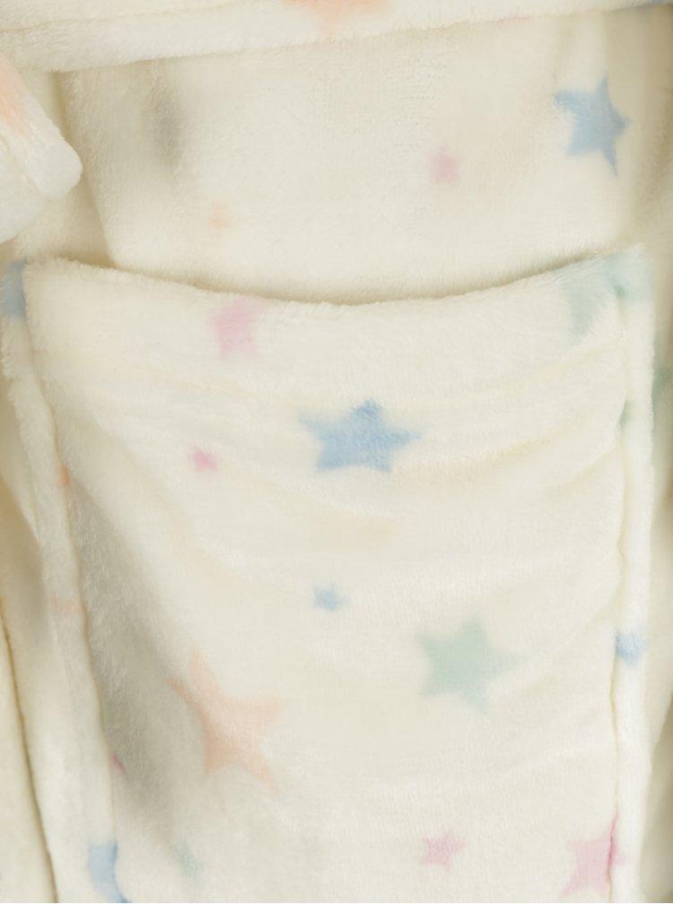 Halat crem cu gluga si model de unicorn Dorothy Perkins