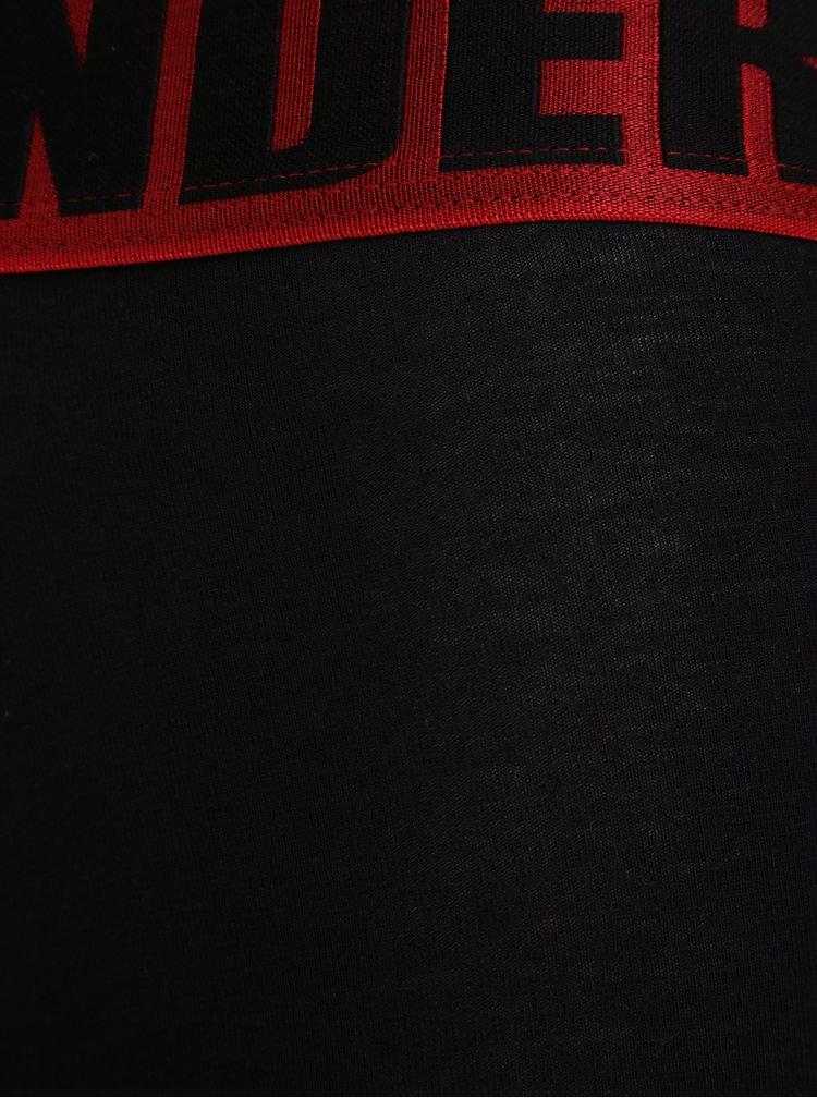 Sada tří boxerek v černé a červené barvě Jimmy Sanders