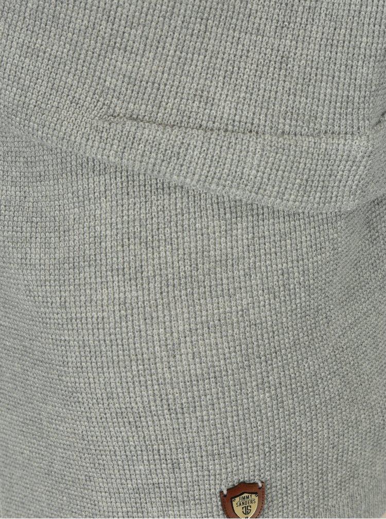 Světle šedý dámský krátký vlněný kardigan Jimmy Sanders