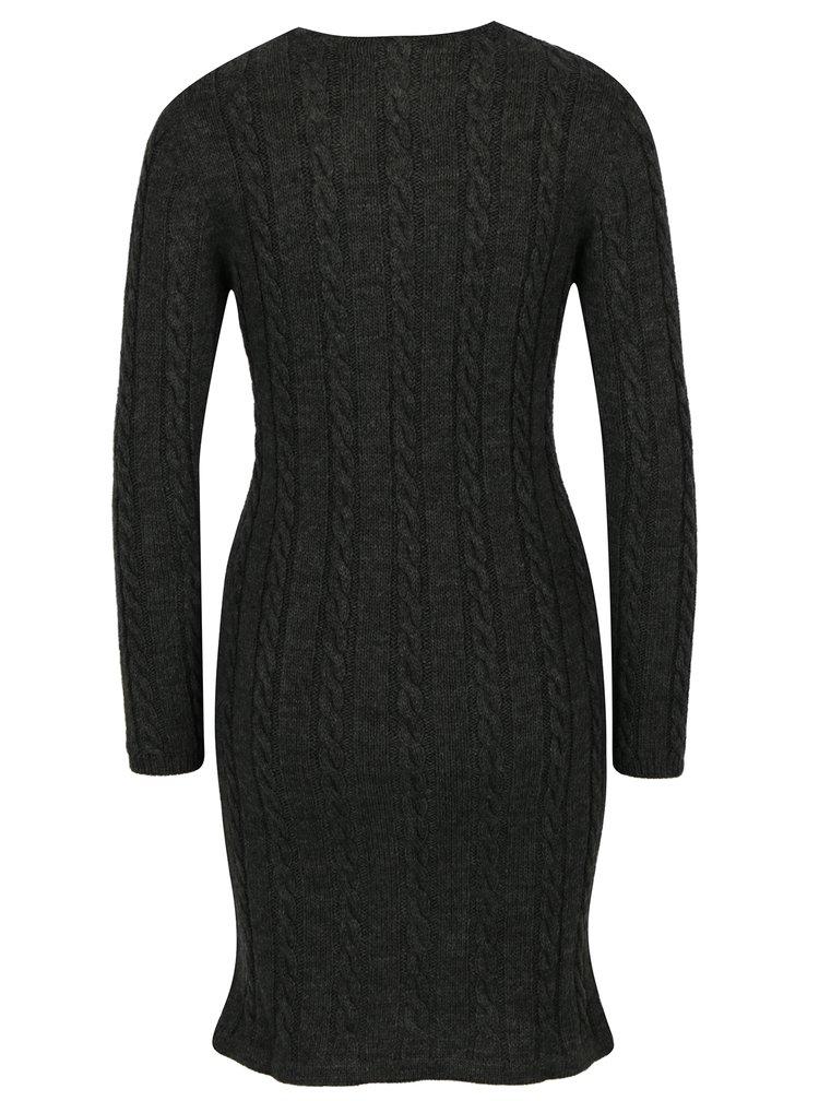 Tmavě šedé svetrové šaty Jimmy Sanders
