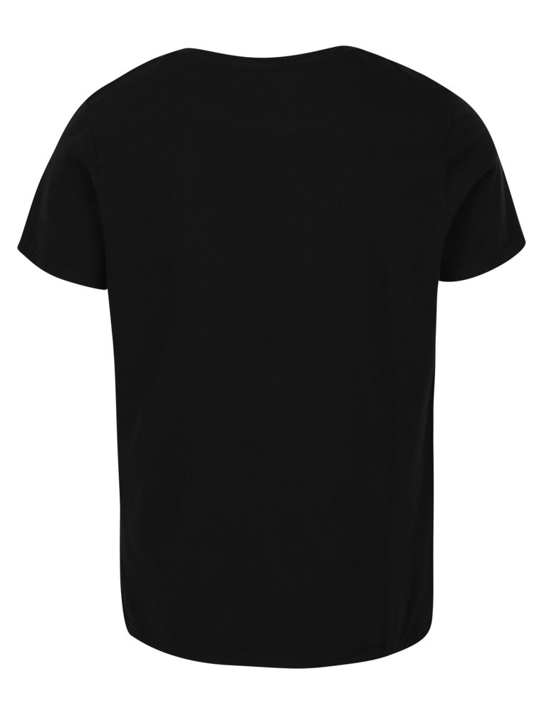 Černé pánské tričko s krátkým rukávem Jimmy Sanders