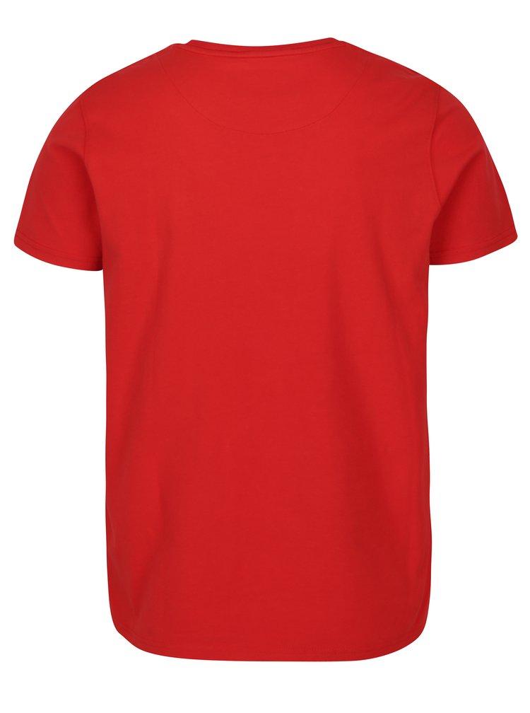 Tricou basic rosu cu logo brodat pentru barbati Jimmy Sanders