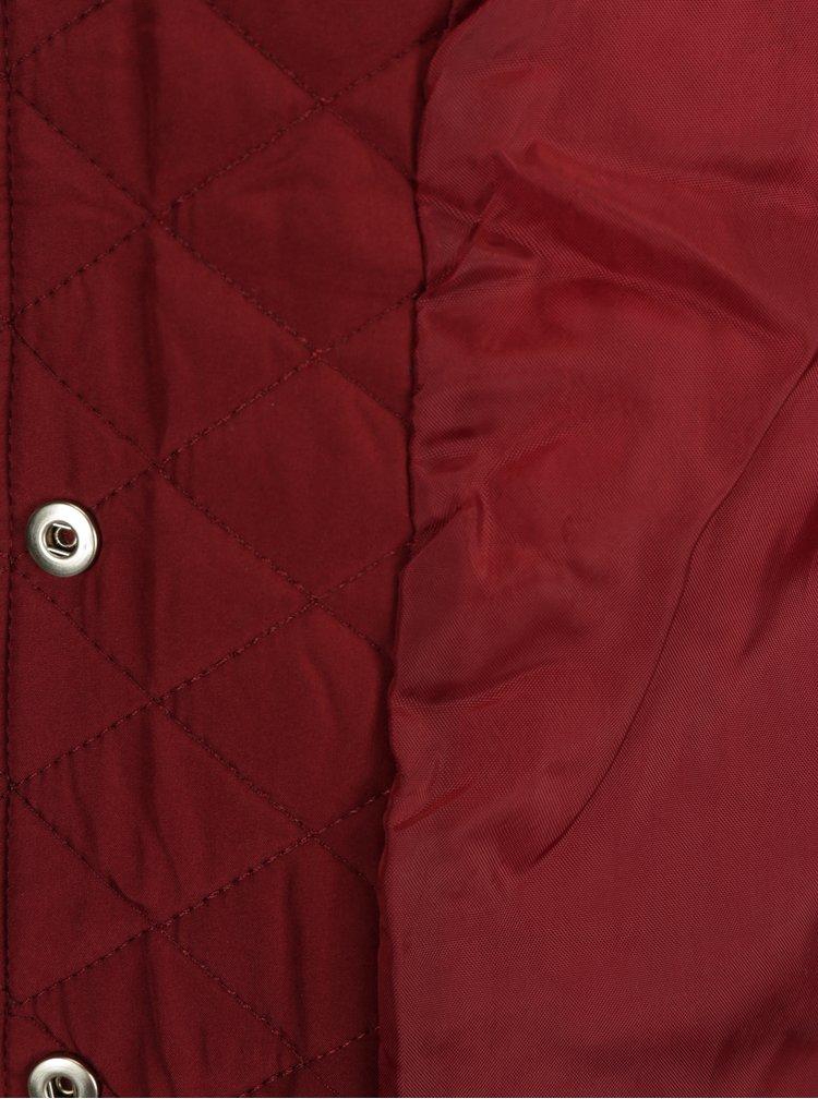 Vínová dámská lehká prošívaná bunda Jimmy Sanders