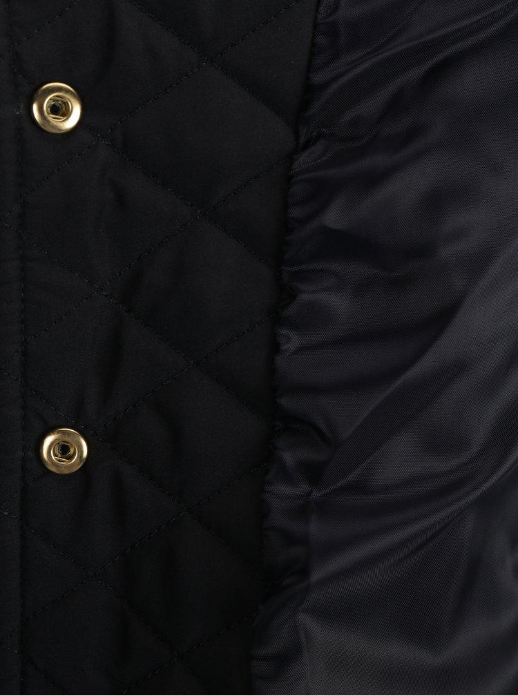 Tmavě modrá dámská lehká prošívaná bunda s knoflíky Jimmy Sanders