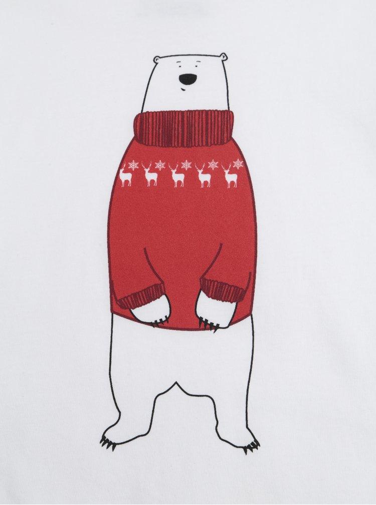 Bílé dětské tričko ZOOT Kids Lední medvěd