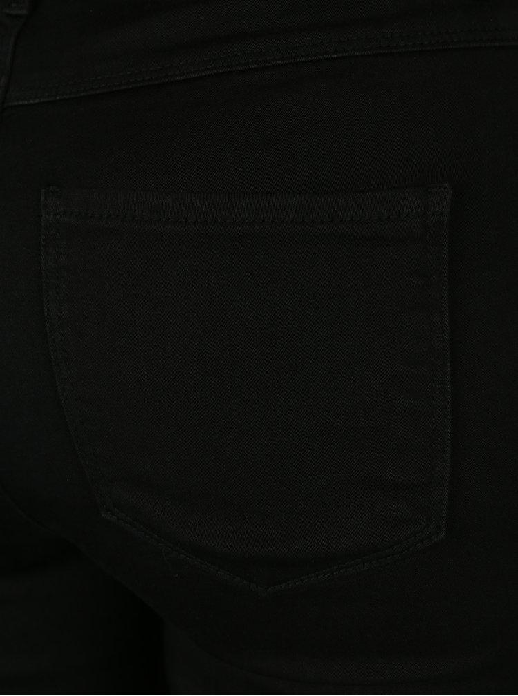 Černé skinny džíny s vysokým pasem Jacqueline de Yong