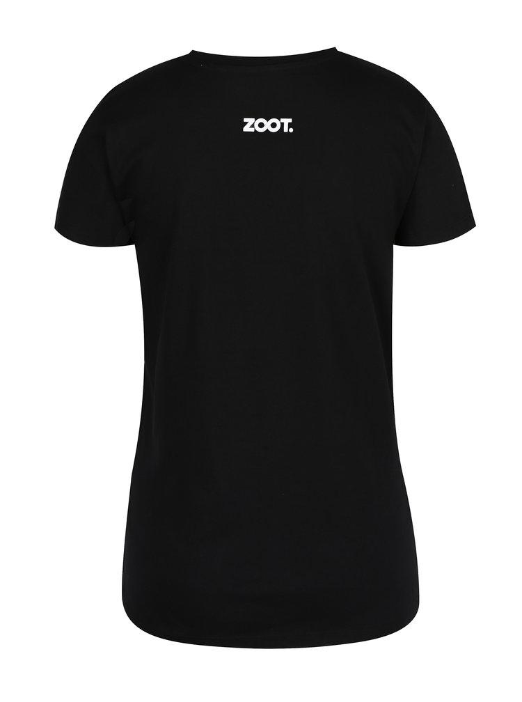 Černé dámské tričko ZOOT Original Sex drogy koledy