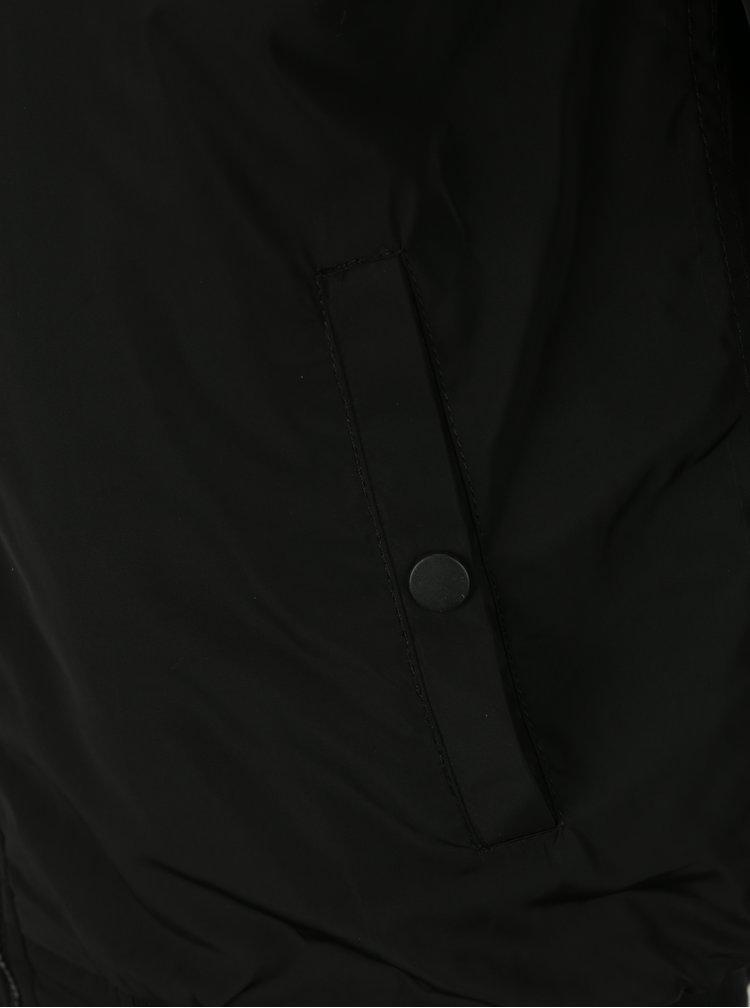 Černý pánský bomber s umělým kožíškem Jimmy Sanders