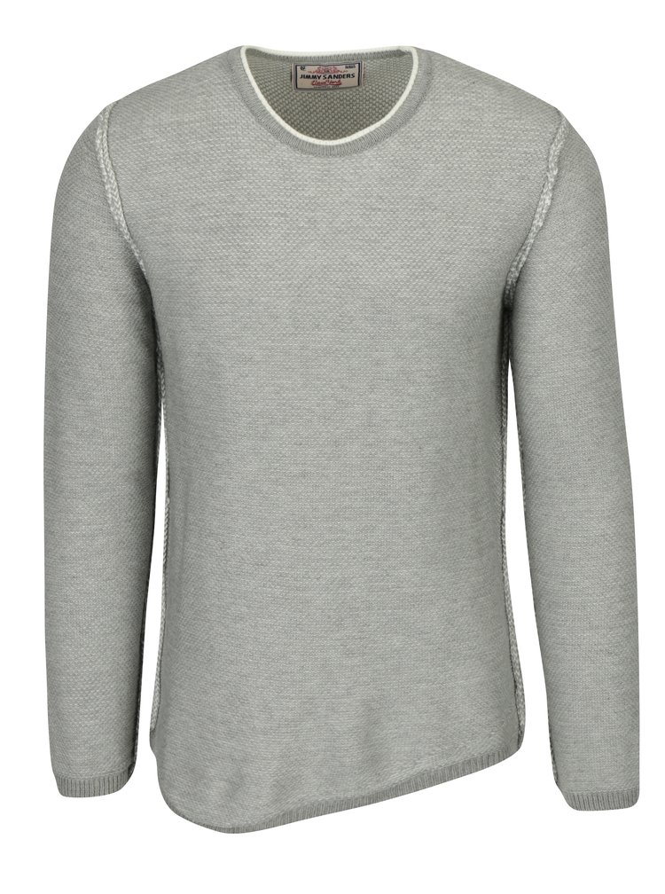 Šedý pánský svetr s příměsí vlny Jimmy Sanders