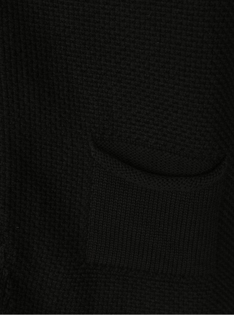 Černý pánský kardigan s knoflíky Jimmy Sanders