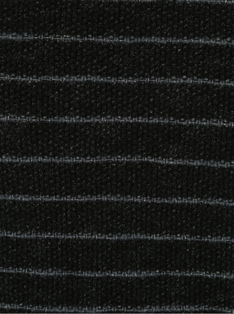 Šedo-černý pánský pruhovaný svetr s.Oliver