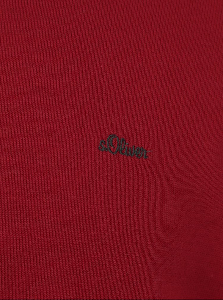 Pulover subtire rosu pentru barbati - s.Oliver