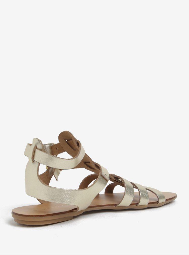 Sandale aurii din piele - Dorothy Perkins