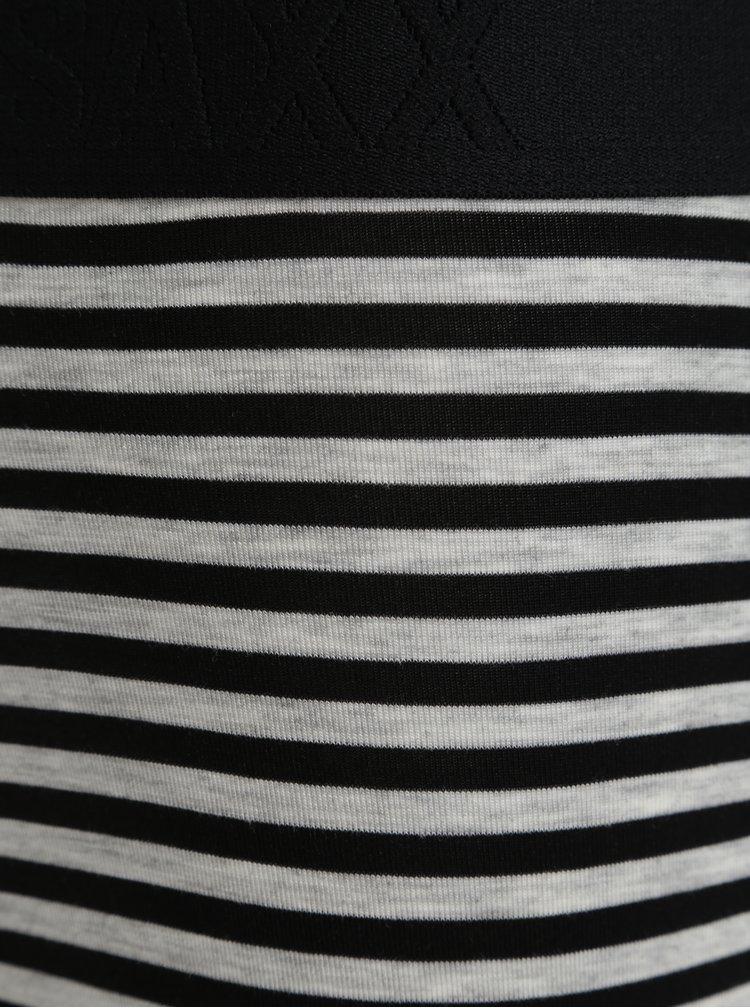 Černo-šedé pánské pruhované boxerky SAXX Vibe modern fit