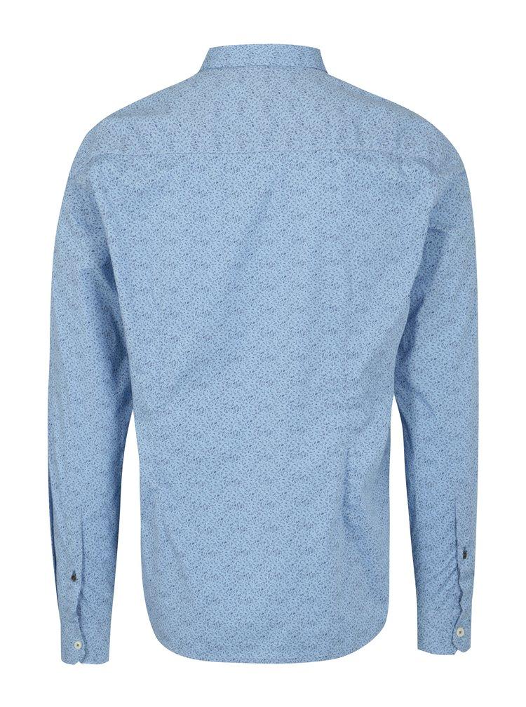 Světle modrá pánská vzorovaná slim fit košile s.Oliver