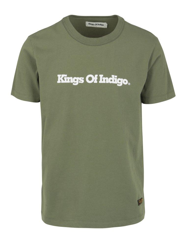 Zelené pánské tričko s potiskem Kings of Indigo Darius