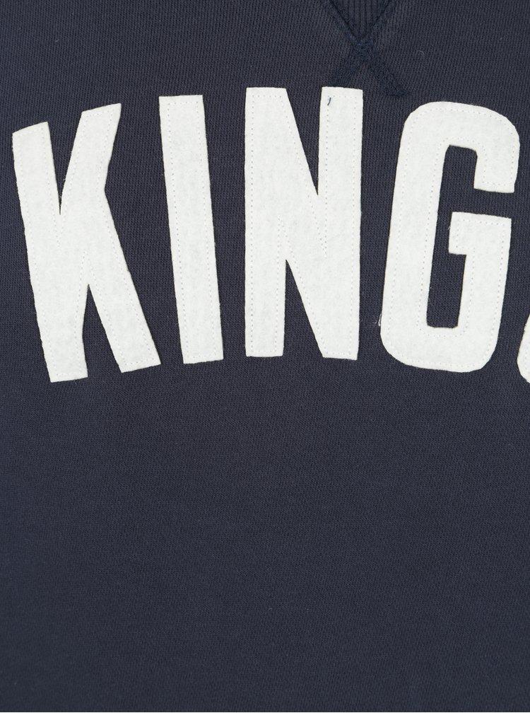 Modrá pánská mikina s nášivkou Kings of Indigo Baldwin