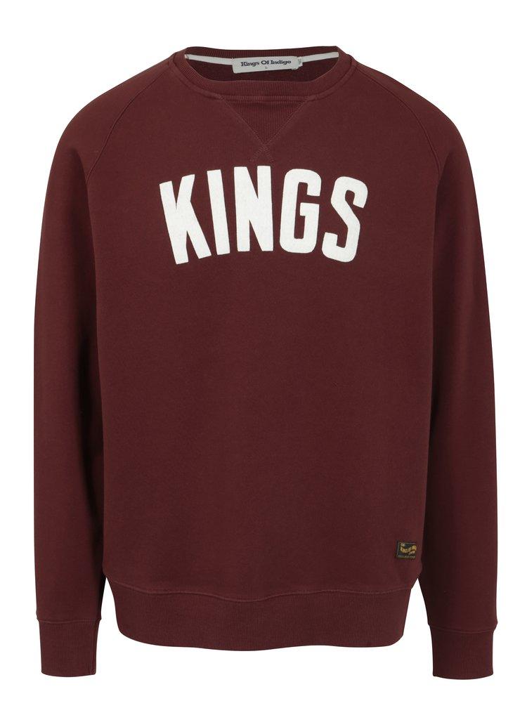 Bluza bordo cu logo Kings of Indigo Baldwin