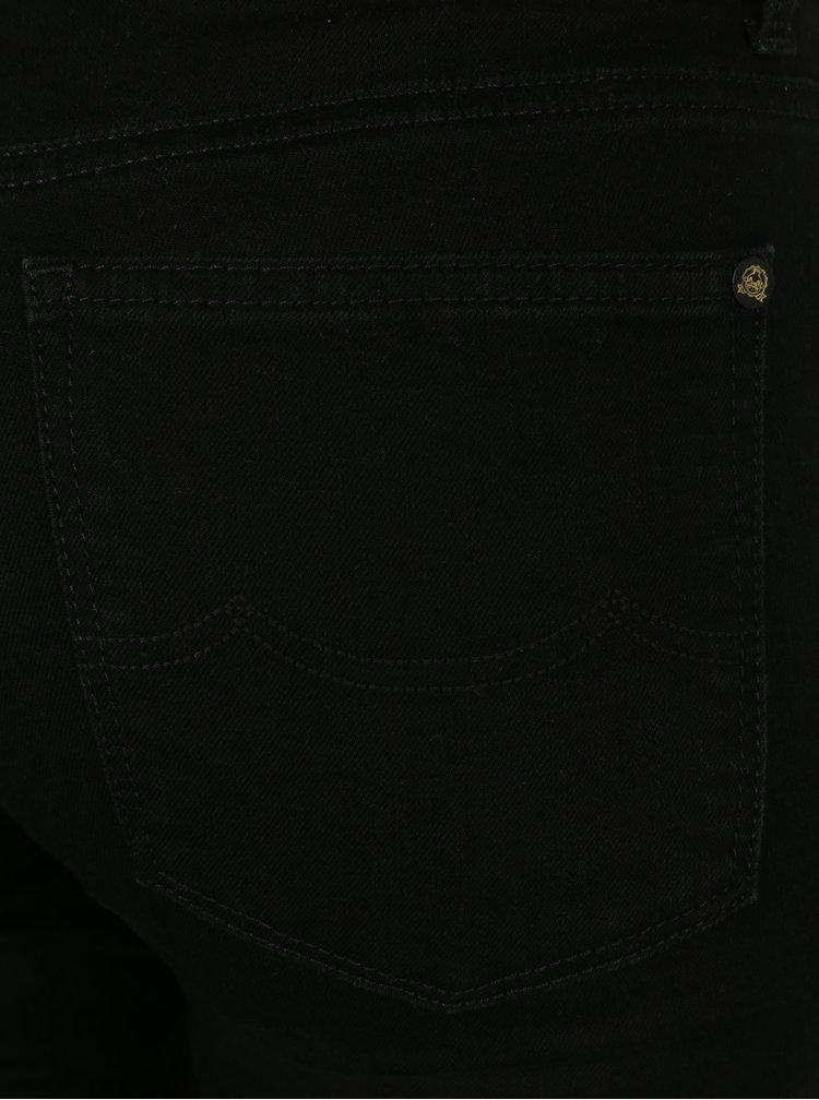 Černé dámské slim džíny s vysokým pasem Kings of Indigo Juno High
