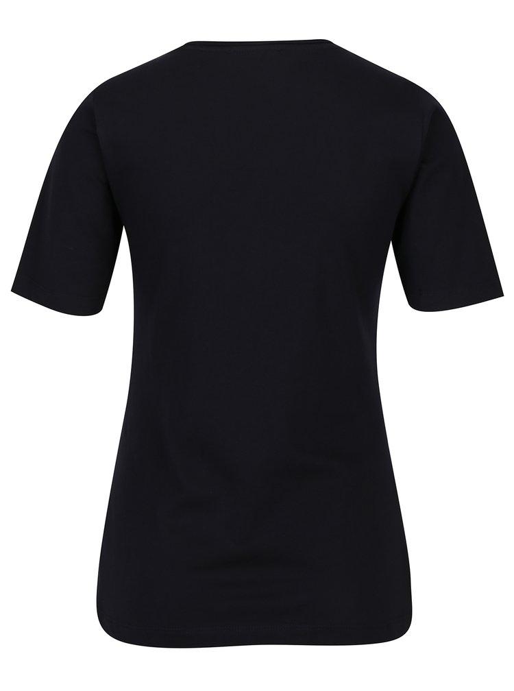 Tmavě modré dámské tričko s krátkým rukávem s.Oliver