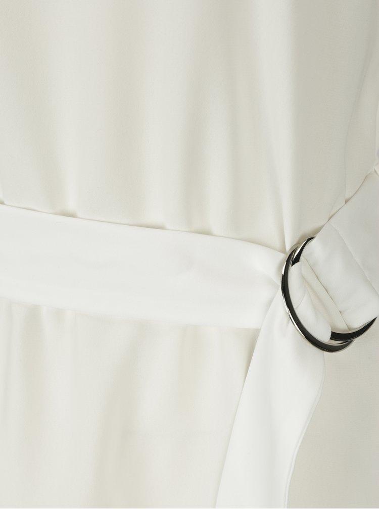 Bluza crem cu cordon in talie - Dorothy Perkins