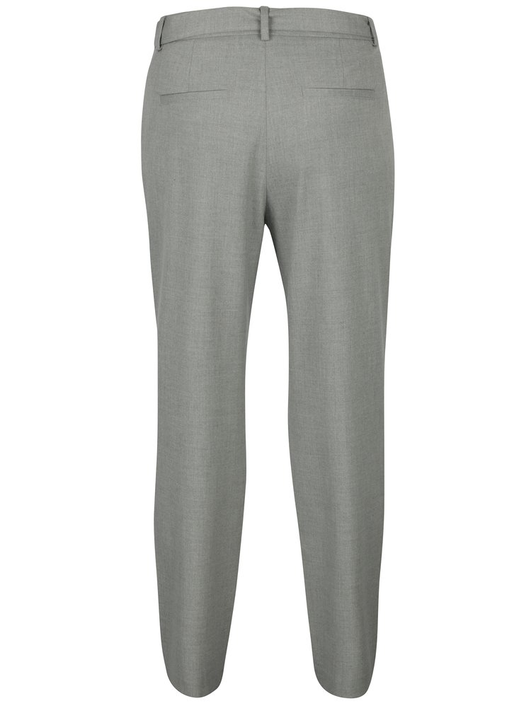 Světle šedé dámské kalhoty s páskem s.Oliver