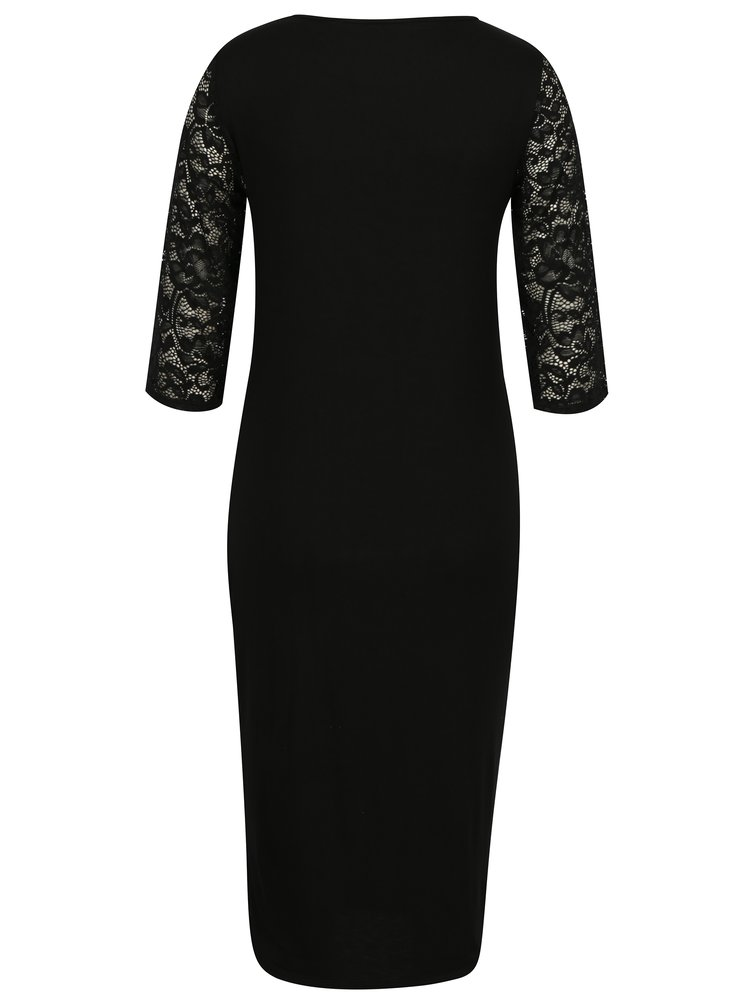 Černé těhotenské šaty s krajkou Dorothy Perkins Maternity