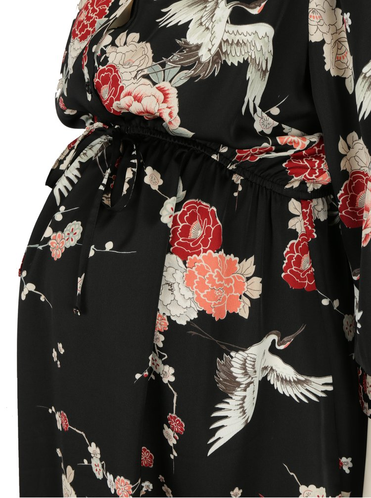 Rochie neagra cu print pentru femei insarcinate - Dorothy Perkins Maternity