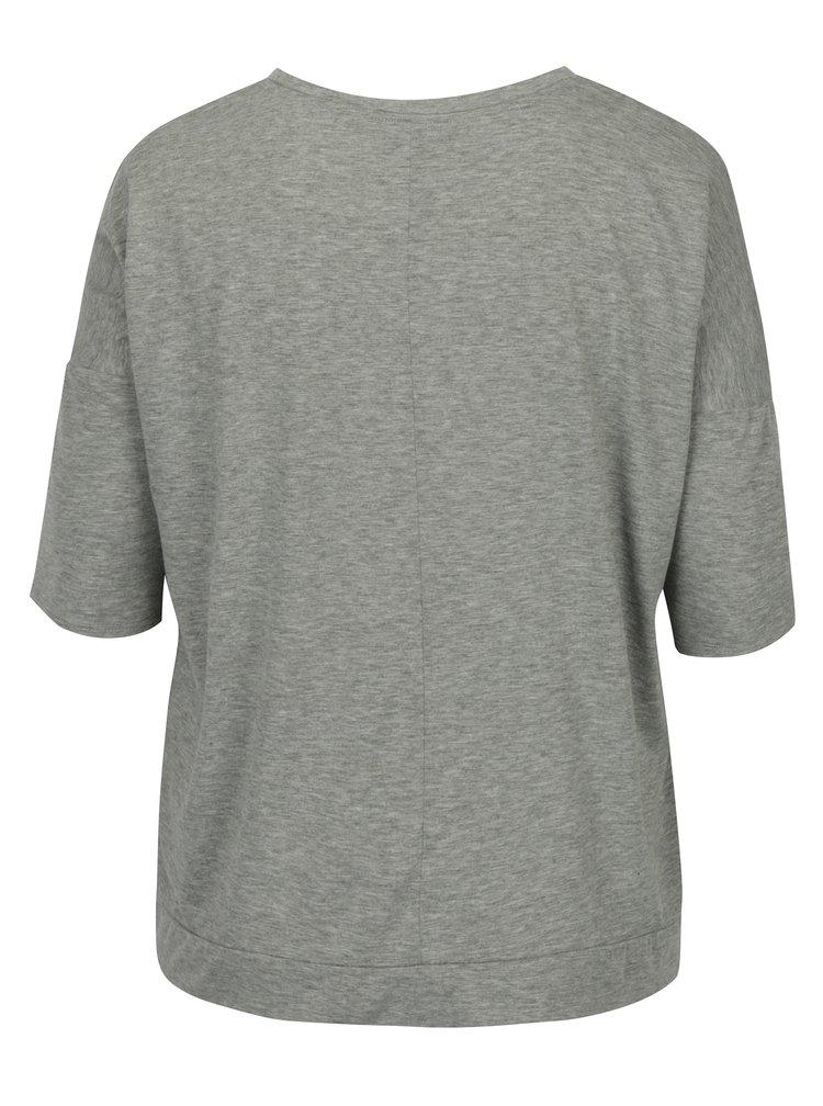Šedé žíhané volné tričko Dorothy Perkins Curve