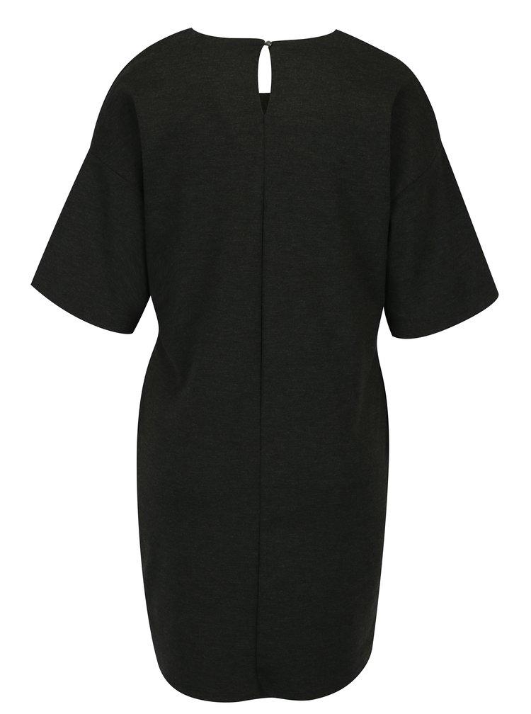 Tmavě šedé šaty s mašlí Dorothy Perkins