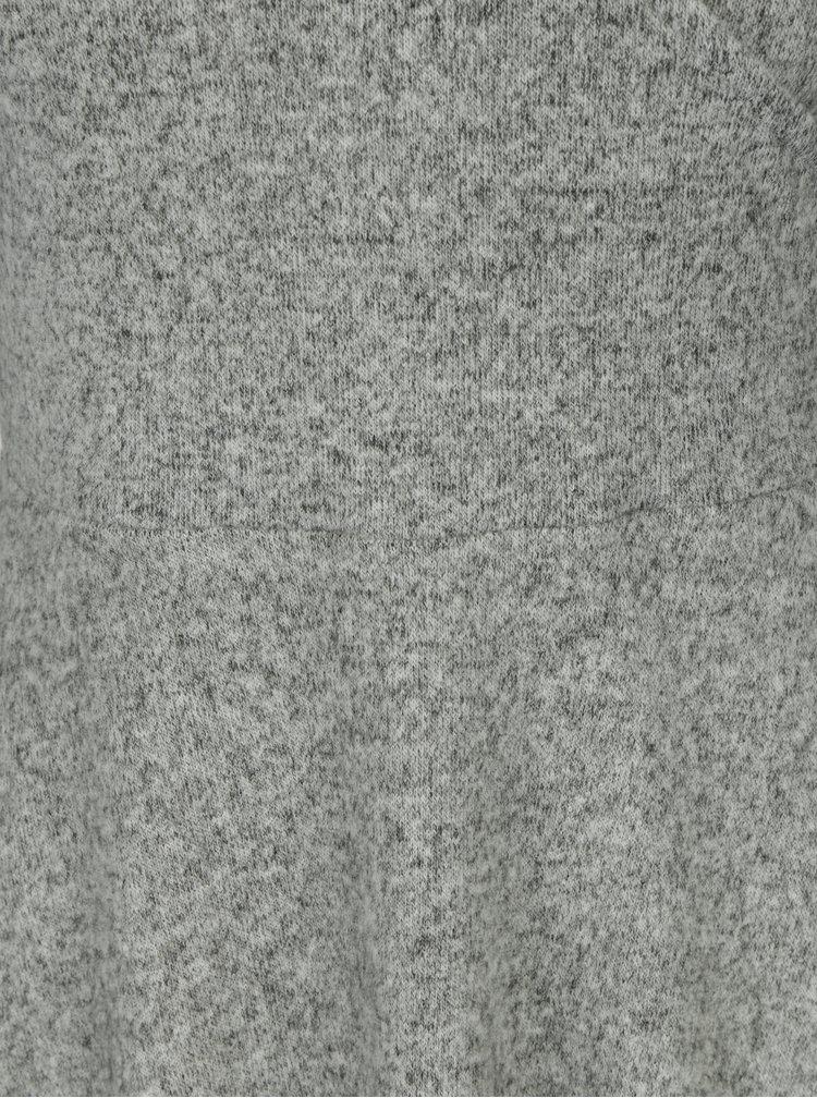Šedé žíhané šaty s překládaným výstřihem Dorothy Perkins Petite