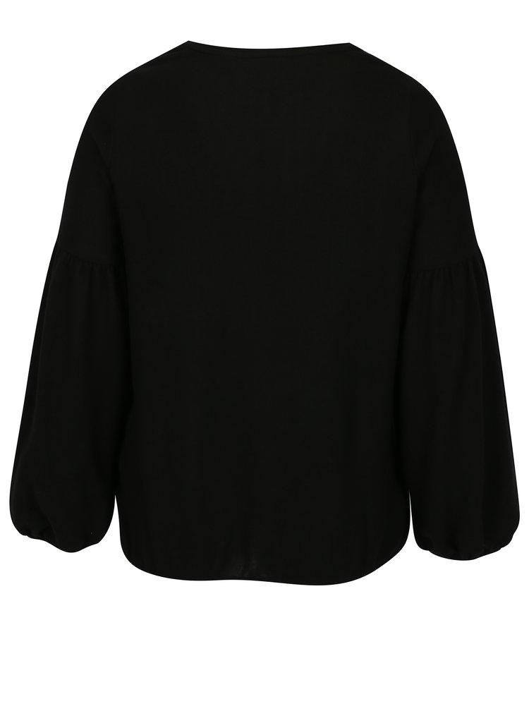 Černý svetr s květovanou výšivkou Dorothy Perkins Curve