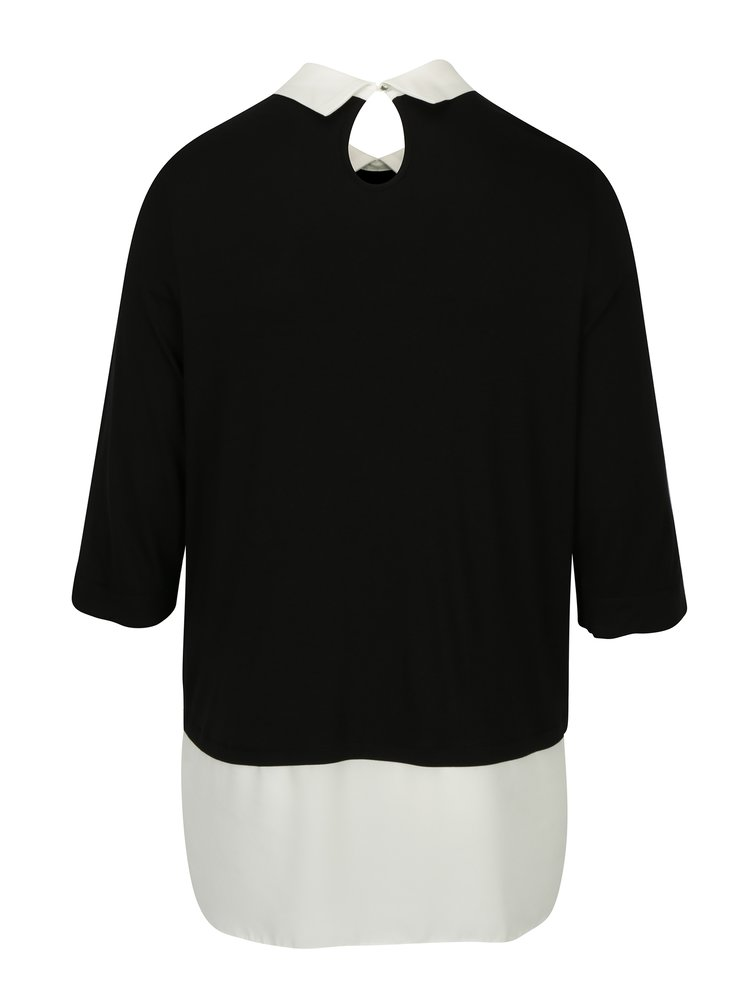 Bluza neagra cu aspect 2 in 1 - Dorothy Perkins Curve