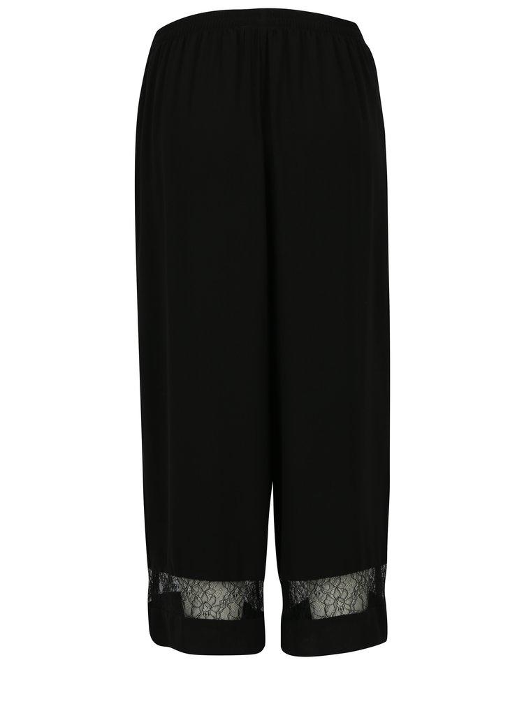 Černé culottes s krajkovými detaily Dorothy Perkins
