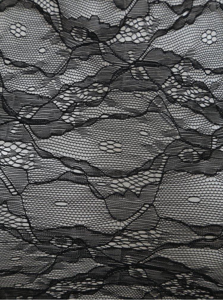 Černá krajková průsvitná podprsenka Noisy May Alexa