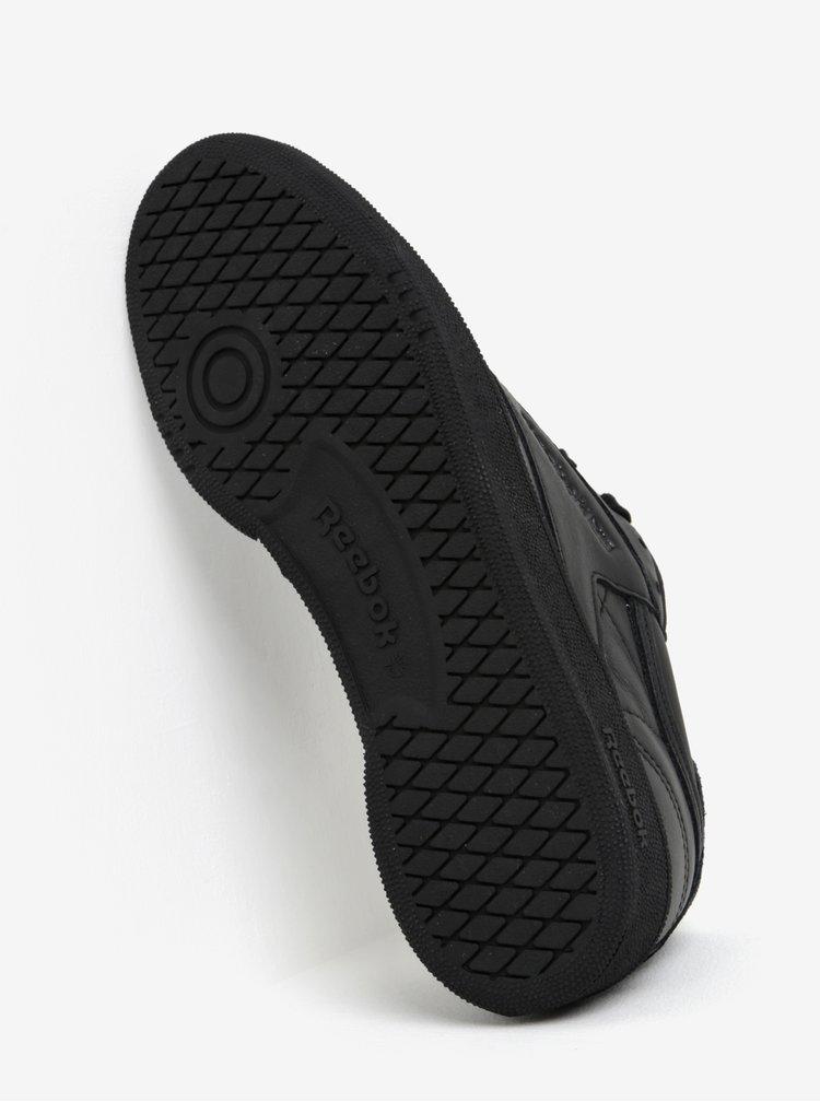 Černé dámské kožené tenisky Reebok