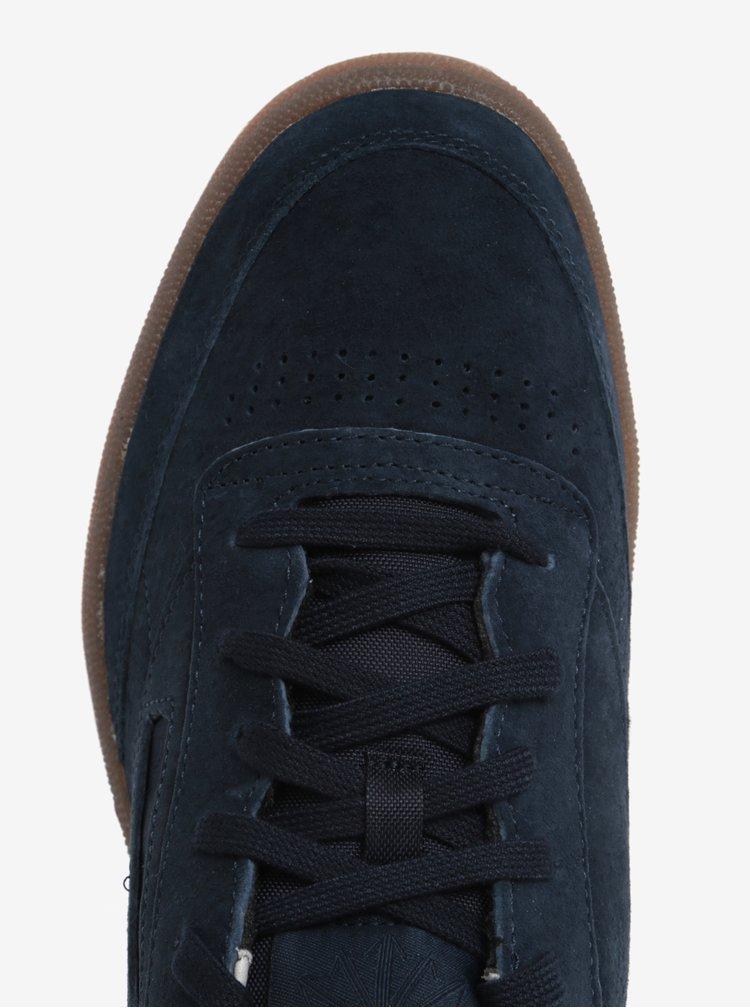 Pantofi sport bleumarin din piele intoarsa Reebok CLUB C 85 G