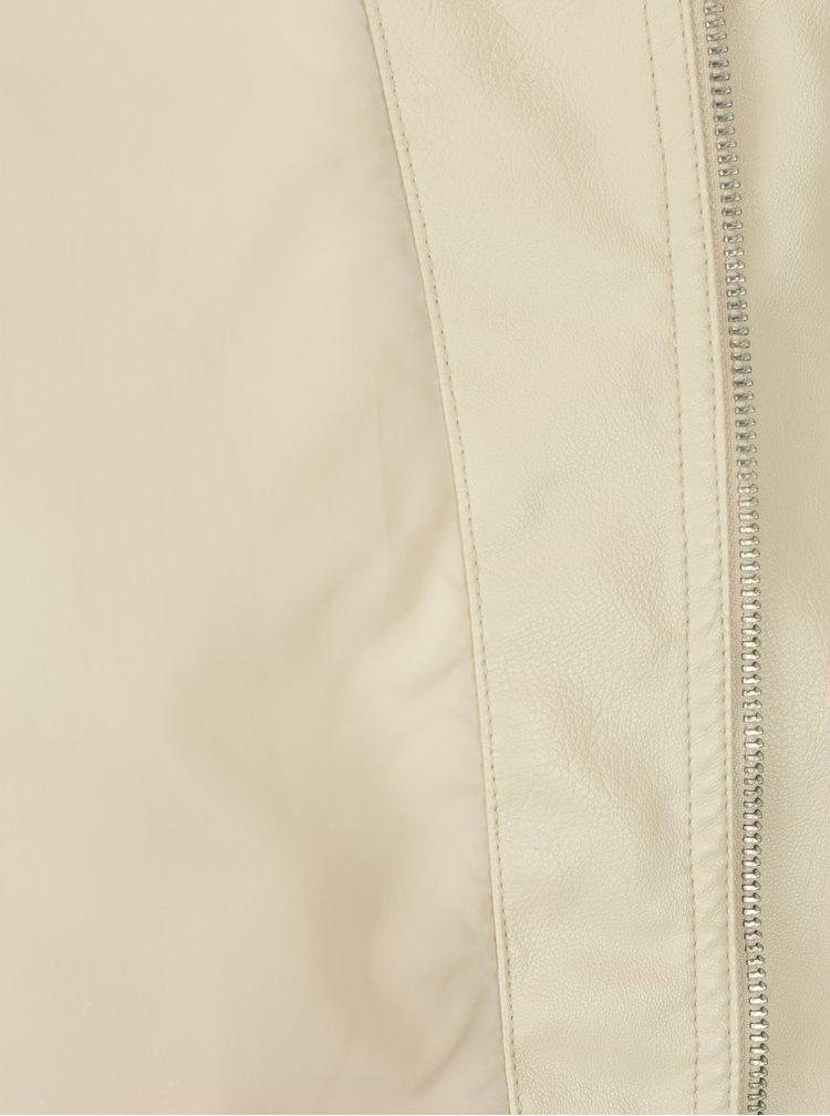 Krémová koženková bunda VERO MODA Alice
