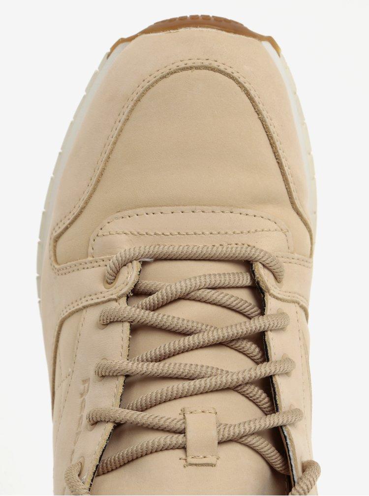 Béžové pánské kožené kotníkové tenisky Reebok GTX-THIN