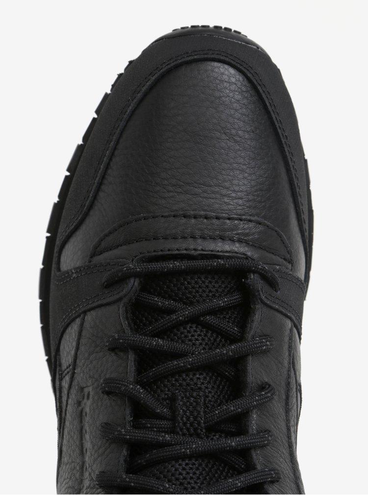 Černé pánské kožené kotníkové tenisky Reebok MID TWD