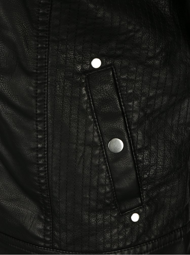 Černá koženková bunda VERO MODA Alice