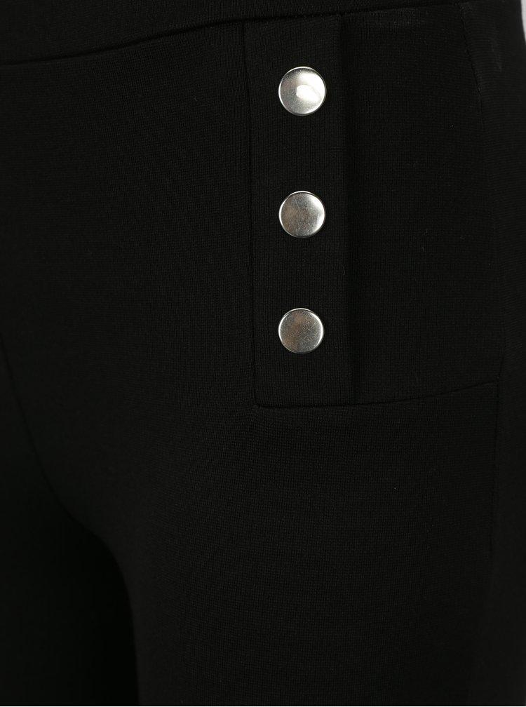 Černé legíny se cvočky ve stříbrné barvě Dorothy Perkins